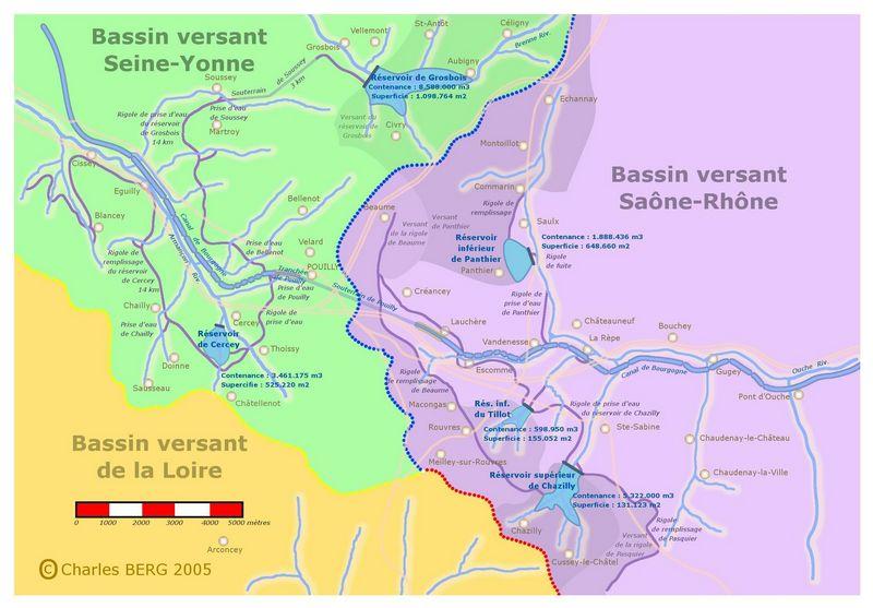 Canal De Bourgogne Carte.Hommes Et Cours D Eau Le Canal De Bourgogne Alimentation