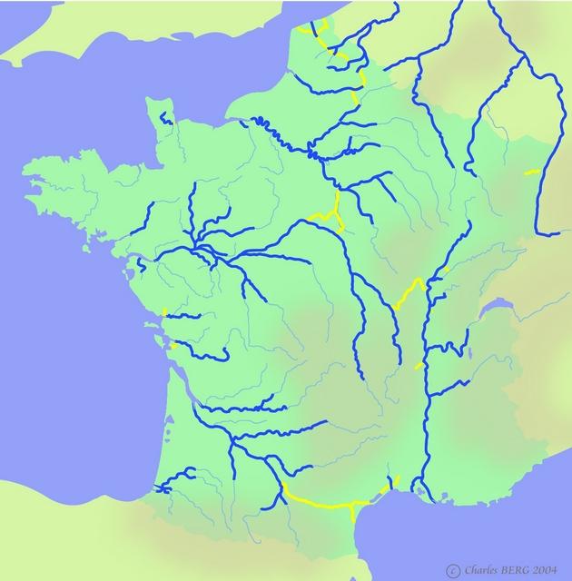 carte de france des rivieres et canaux