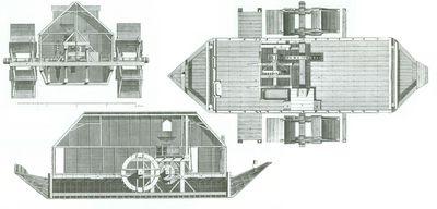 Moulin bateau dictionnaire des bateaux fluviaux - Bateau sur roues ...