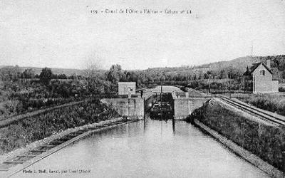 Landrecies : le canton de Joachim Rica-sambre-oise-canal-landrecies-cpa