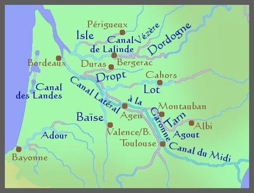 Carte De LAquitaine