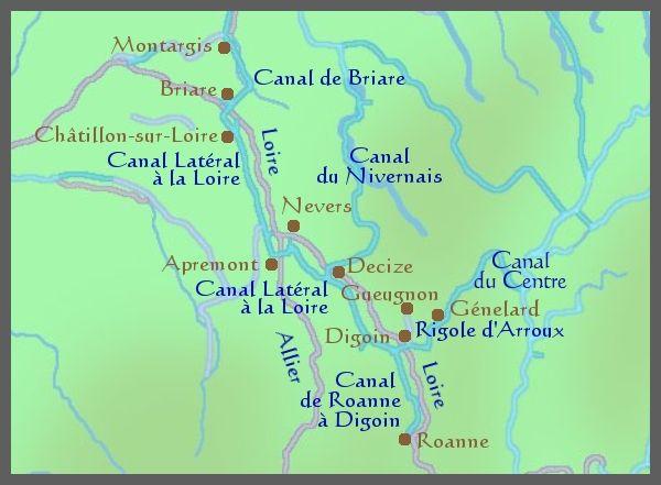 Canal De Bourgogne Carte.Carte Riviere Bourgogne