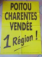 poitevin saintongeais vendée région poitou-charentes affiche