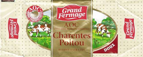 poitevin saintongeais beurre charentes-poitou AOC